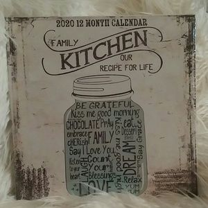 New 2020 12 month Calendar for the country kitchen